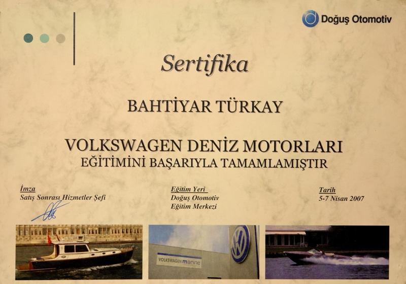 deniz motorları sertifikasi