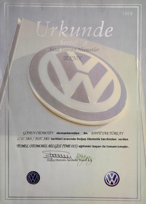 temel otomotiv sertifikasi